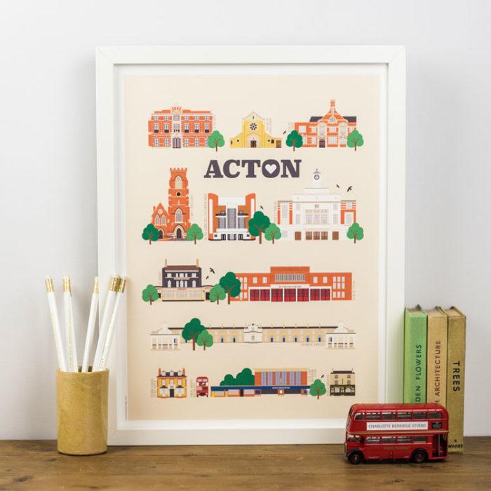Acton Landmarks Print