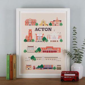 Acton Landmark print