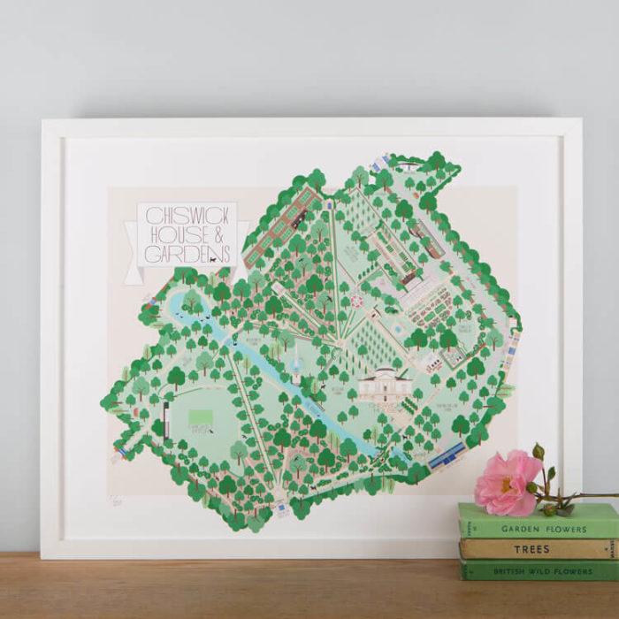Chiswick House & Gardens Park Print