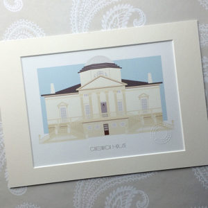 Chiswick House Illustrated A4 Print