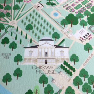 Chiswick House & Gardens Illustrated Map Print