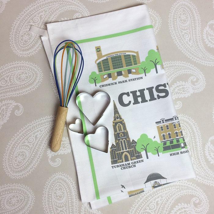 Chiswick Illustrated Tea Towel