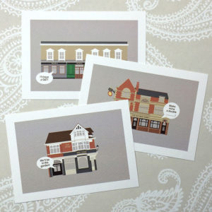 Chiswick Pubs Illustrated Postcard Collection