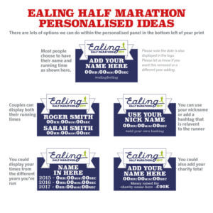 Ealing Half Marathon personalised ideas
