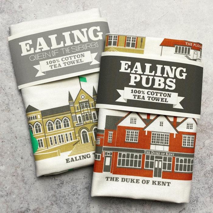 Ealing and Ealing Pubs Tea Towels