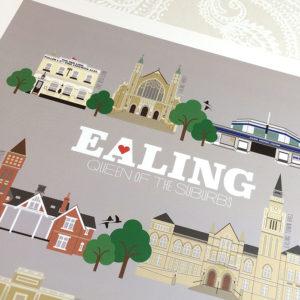 Ealing Illustrated Print (Grey)