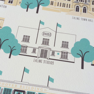 Ealing Illustrated Print (White)