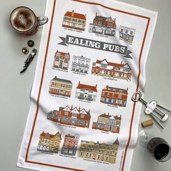 Ealing Pubs Tea Towel