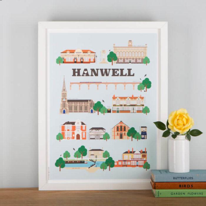 Hanwell Landmarks Print