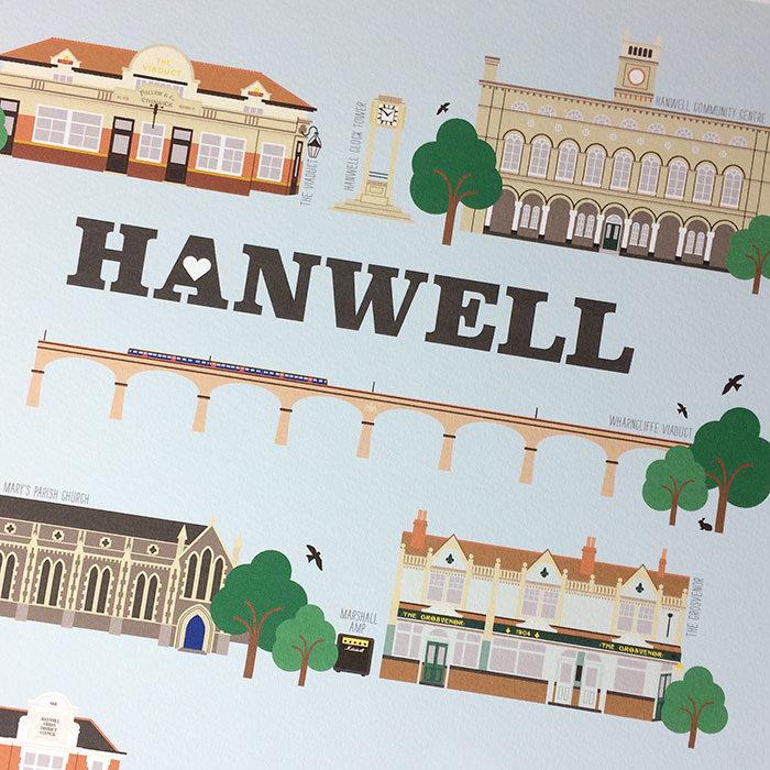Hanwell Illustrated Print