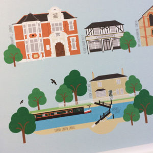 Hanwell Illustrated Print
