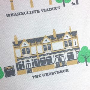 Hanwell Illustrated Tea Towel