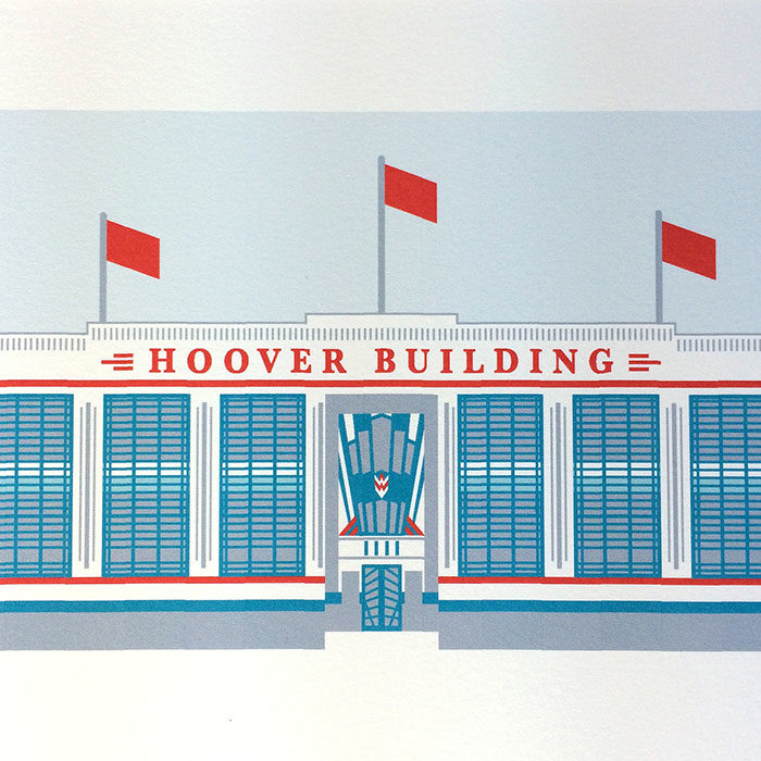 Hoover Building, Ealing Illustrated Print
