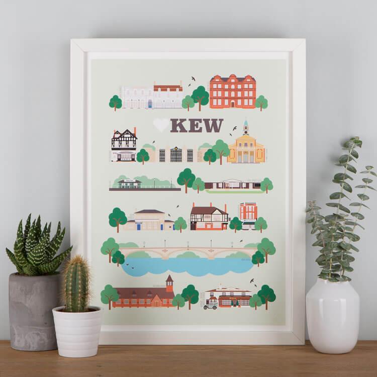 Kew Landmarks Print