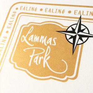 Lammas Park in Ealing Illustrated Map Print