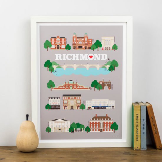 Richmond Landmarks Print