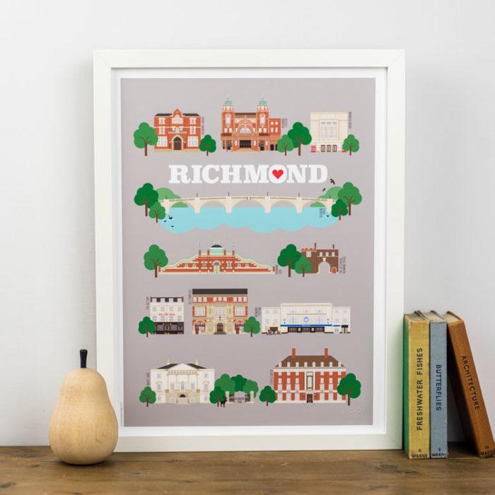 Richmond Landmarks Print