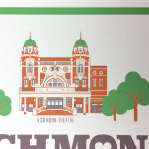Richmond Illustrated Print (White)