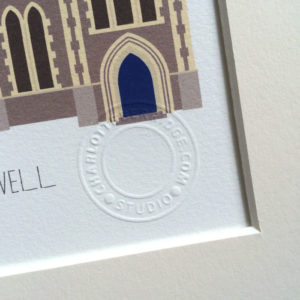St Mary's Hanwell Illustrated A4 Print