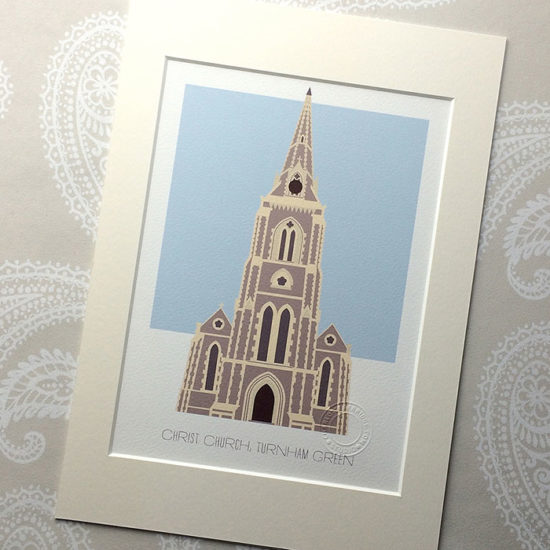 Christ Church, Turnham Green Illustrated A4 Print