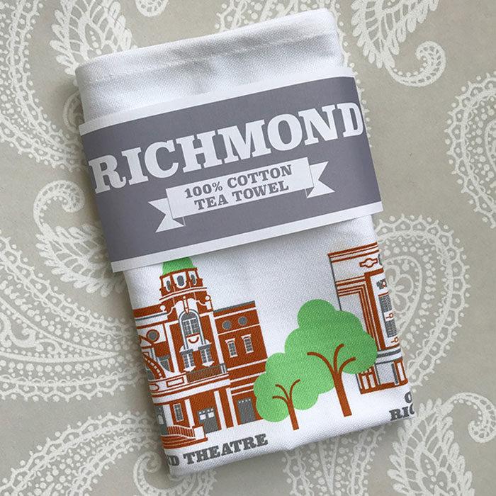 Richmond Illustrated Tea Towel