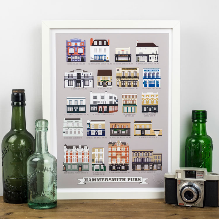Hammersmith Pubs Print