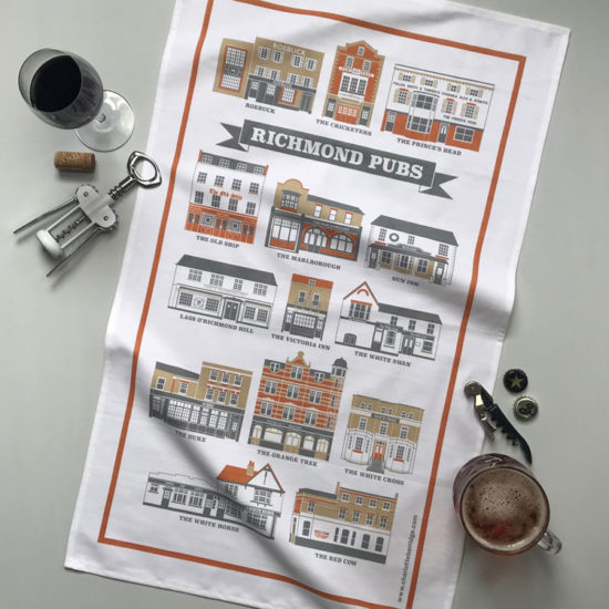 Richmond Pubs Tea Towel