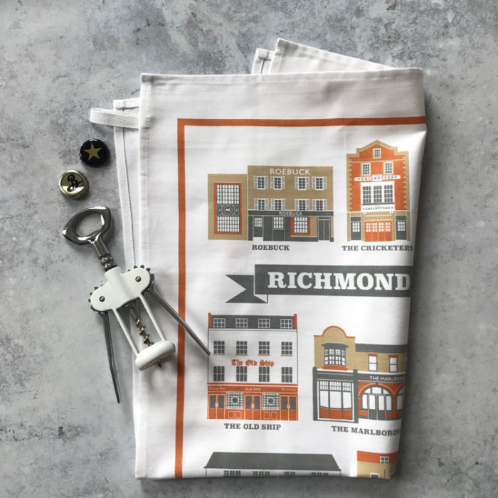 Richmond Pubs Tea Towel
